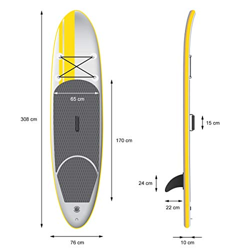 df028b9ff ▷ECD Germany Stand Up Paddle Board inflatable - 308 x 76 x 10 cm ...